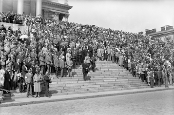 July 7, 1930. On the steps of the Cathedral