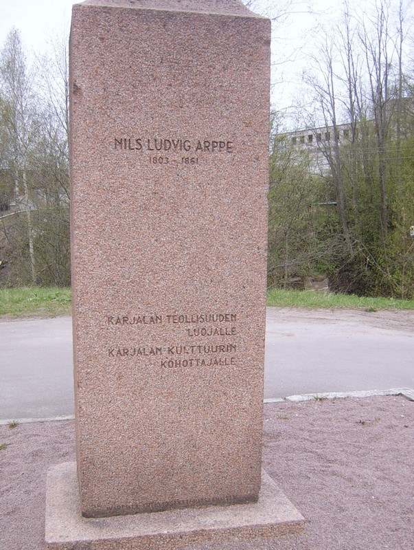 May 20, 2015. Monument to Nils Ludvig Arppe