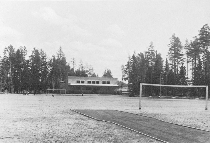 1930's. The Sport Hall and the sport field