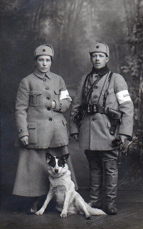 1918. Director K.O.A.Larsson and his wife Helmi