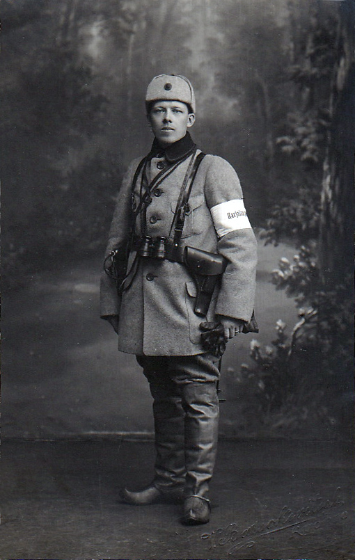 1918. Johtaja K.O.A.Larsson