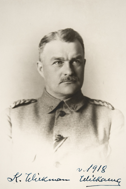 1918. Commander-in-Chief of the Armed Forces of Finland Major General Karl Fredrik Wilkman